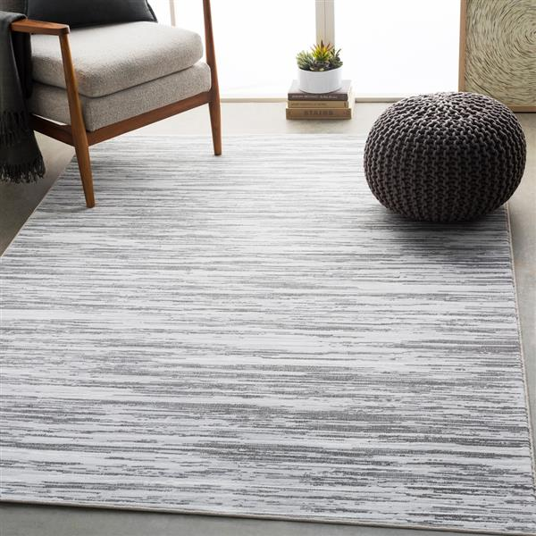Surya Contempo Modern Area Rug - 5-ft 3-in x 7-ft 6-in - Rectangular - Gray