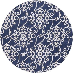 Surya Cosmopolitan Transitional Area Rug - 8-ft - Round - Navy