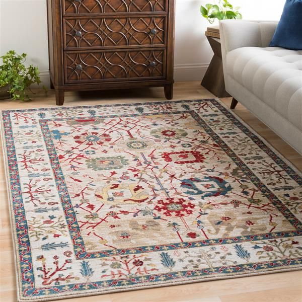 Surya Crafty Traditional Area Rug - 5-ft 1-in x 7-ft 4-in - Rectangular - Multi