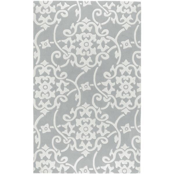 Surya Cosmopolitan Transitional Area Rug - 9-ft x 13-ft - Rectangular - Medium Gray