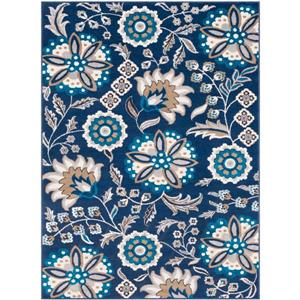 Surya Clairmont Transitional Area Rug - 7-ft 10-in x 10-ft 3-in - Rectangular - Navy