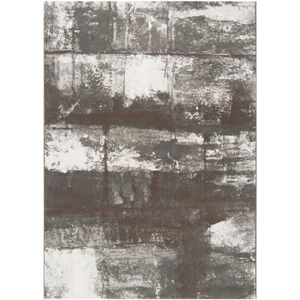 Surya Contempo Modern Area Rug - 9-ft 2-in x 12-ft 9-in - Rectangular - White/Brown