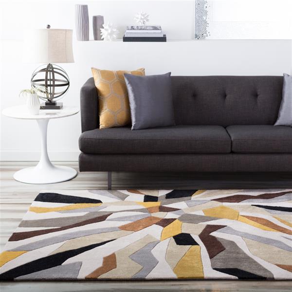 Surya Cosmopolitan Modern Area Rug - 9-ft x 13-ft - Rectangular - Yellow
