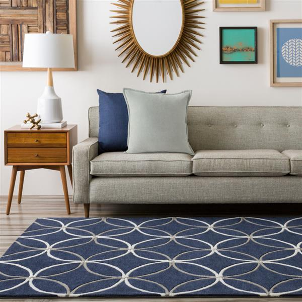Surya Cosmopolitan Transitional Area Rug - 5-ft x 8-ft - Rectangular - Navy