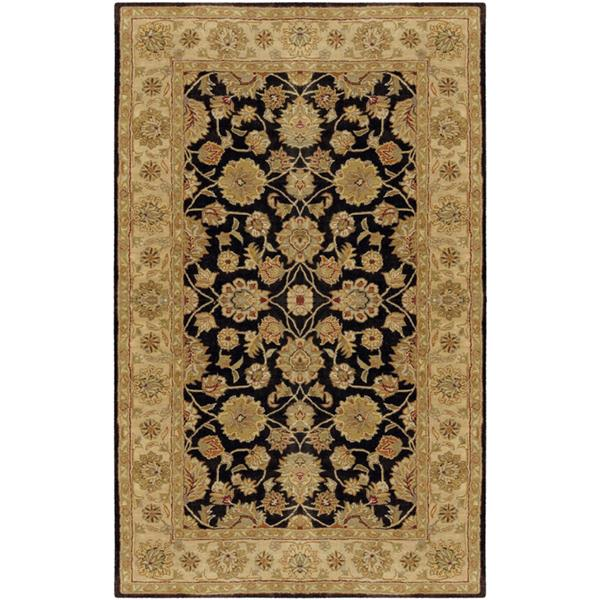 Surya Crowne Traditional Area Rug - 5-ft x 8-ft - Rectangular - Black