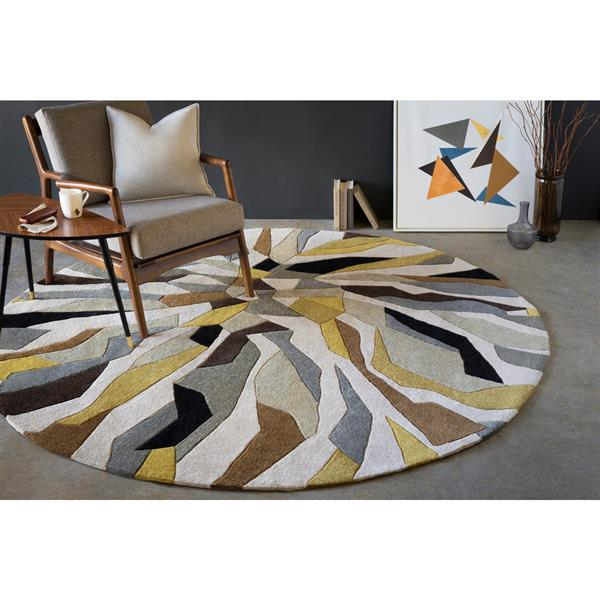 Surya Cosmopolitan Modern Area Rug - 8-ft x 11-ft - Rectangular - Yellow