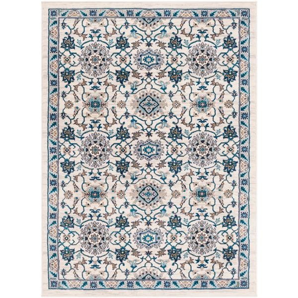 Surya Clairmont Updated Traditional Area Rug - 7-ft 10-in x 10-ft 3-in - Rectangular - Ivory