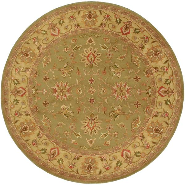 Surya Crowne Traditional Area Rug - 8-ft - Round - Olive