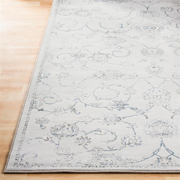 Surya Contempo Updated Traditional Area Rug - 7-ft 10-in x 10-ft - Rectangular - Light Gray