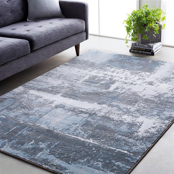 Surya Contempo Modern Area Rug - 3-ft 11-in x 5-ft 7-in - Rectangular - Blue