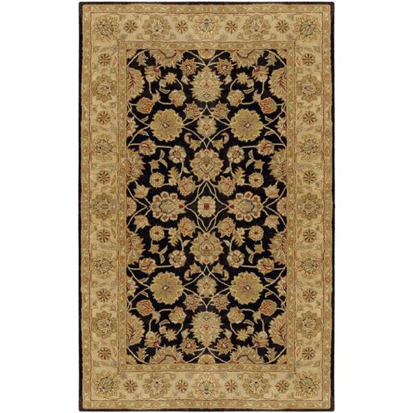 Surya Crowne Traditional Area Rug - 8-ft x 11-ft - Rectangular - Black