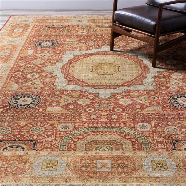 Surya Cambridge Traditional Area Rug - 5-ft 6-in x 8-ft 6-in - Rectangular - Rust