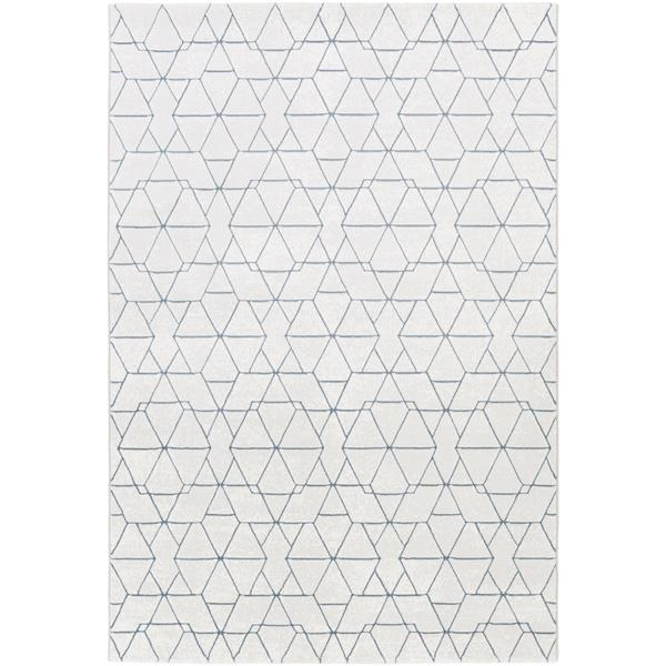 Surya Contempo Modern Area Rug - 7-ft 10-in x 10-ft - Rectangular - White