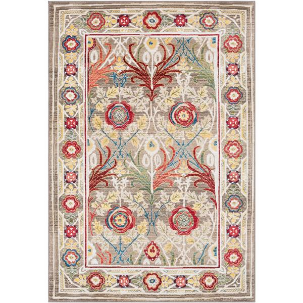 Surya Crafty Traditional Area Rug - 7-ft 10-in x 9-ft 10-in - Rectangular - Brown