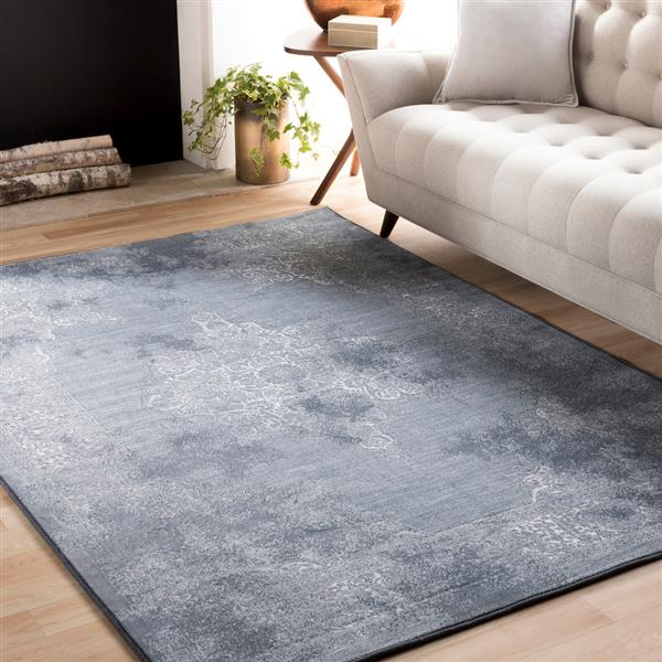 Surya Contempo Updated Traditional Area Rug - 9-ft 2-in x 12-ft 9-in - Rectangular - Blue
