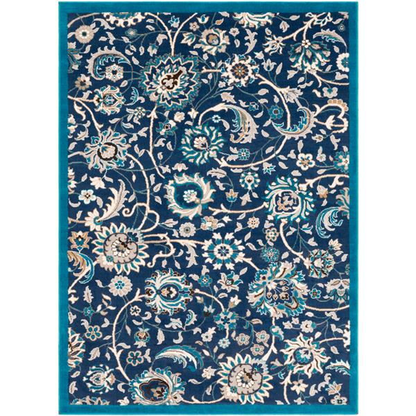 Surya Clairmont Updated Traditional Area Rug - 7-ft 10-in x 10-ft 3-in - Rectangular - Navy