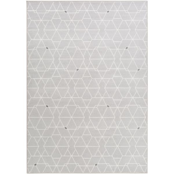 Surya Contempo Modern Area Rug - 7-ft 10-in x 10-ft - Rectangular - Gray