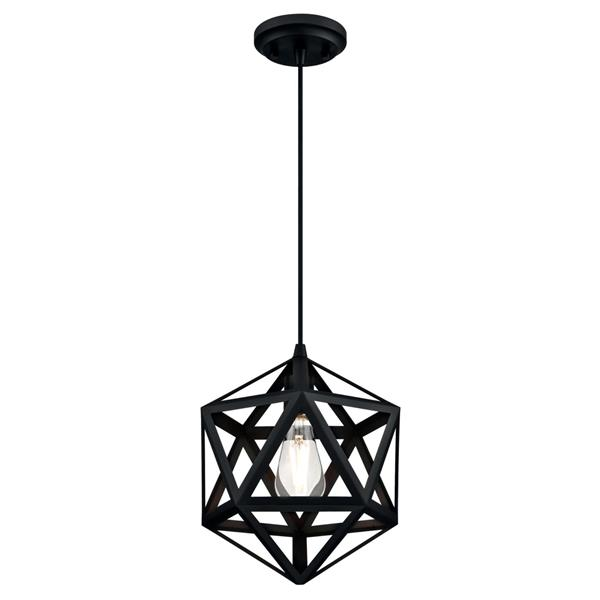 Luminaire suspendu à Geometric Westinghouse , 1 lumière, noir mat
