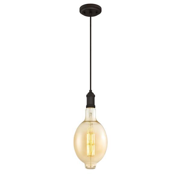 Luminaire suspendu à 1 lumière Oversized de Westinghouse Lighting Canada, forme ronde, DEL, bronze huilé