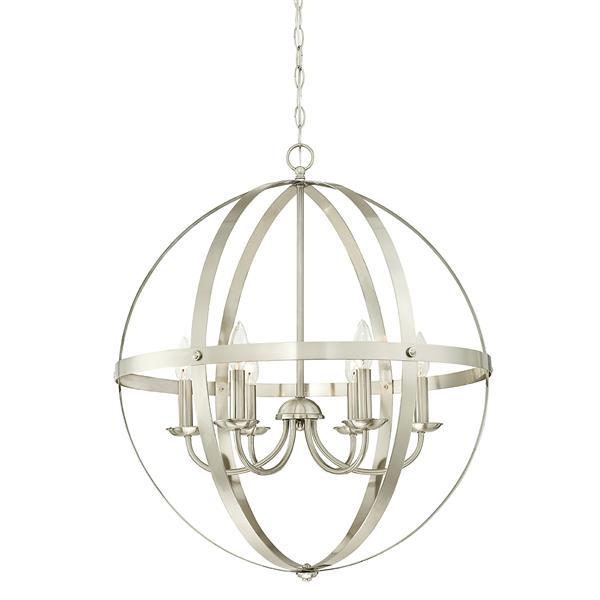 Lustre Stella Mira de Westinghouse Lighting Canada, 6 lumières, nickel brossé
