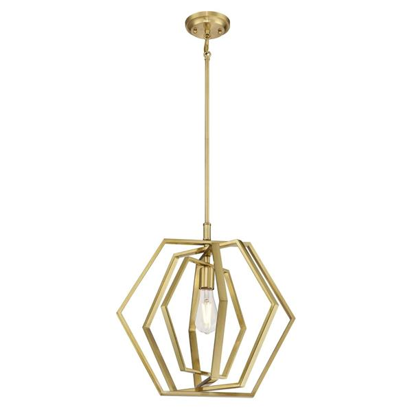 Westinghouse Lighting Canada Geometric Pendant Light - 1-Light - Champagne Brass
