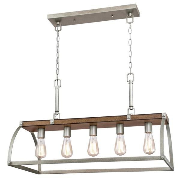 Lustre Oak Lane de Westinghouse Lighting Canada, 5 lumières, bois de grange