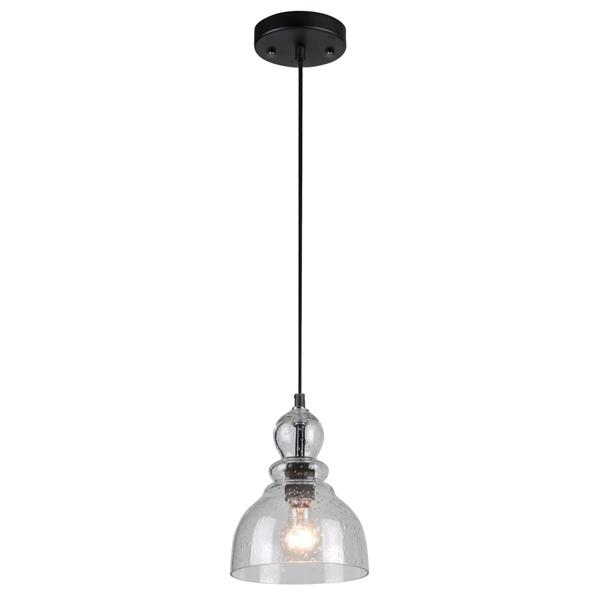 Westinghouse Lighting Canada Glass Pendant Light - 1-Light - Oil Rubbed Bronze