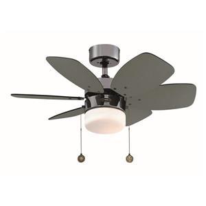 Ventillateur de plafond Flora Royal de Westinghouse Lighting Canada, 1 lumière, 6 pales, métal indsutriel