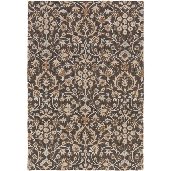 Surya Castille Traditional Area Rug - 4-ft x 6-ft - Rectangular - Dark Brown