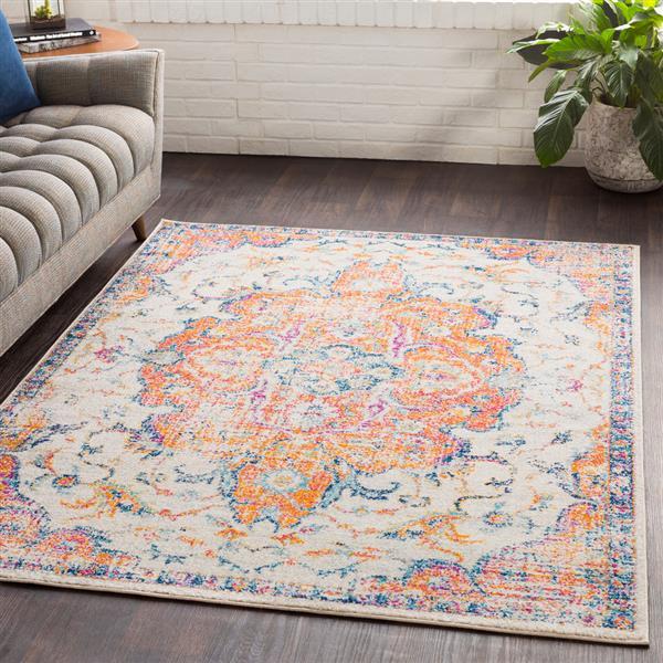 Surya Elaziz Updated Traditional Area Rug - 5-ft 3-in x 7-ft 6-in - Rectangular - Orange