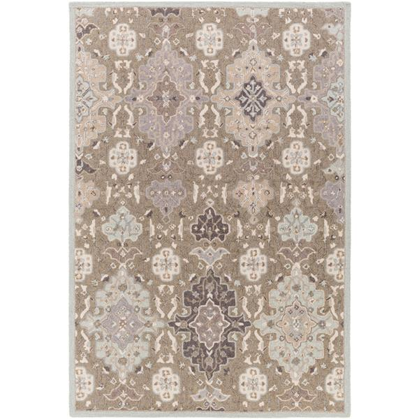 Surya Castille Traditional Area Rug - 9-ft x 13-ft - Rectangular - Taupe