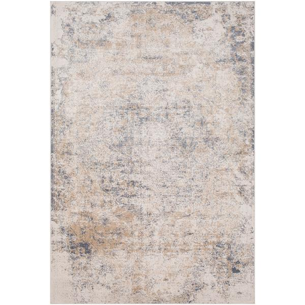 Surya Durham Updated Traditional Area Rug - 5-ft 3-in x 7-ft 3-in - Rectangular - Taupe