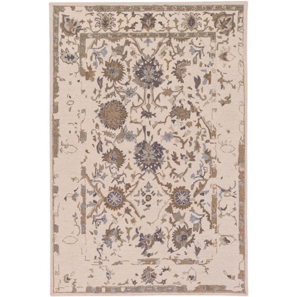 Surya Castille Updated Traditional Area Rug - 5-ft x 7-ft 6-in - Rectangular - Khaki
