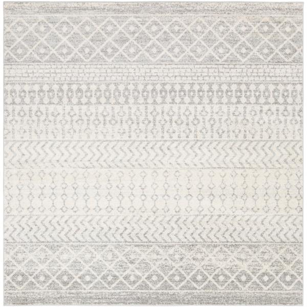 Surya Elaziz Bohemian Area Rug - 7-ft 10-in - Square - Gray