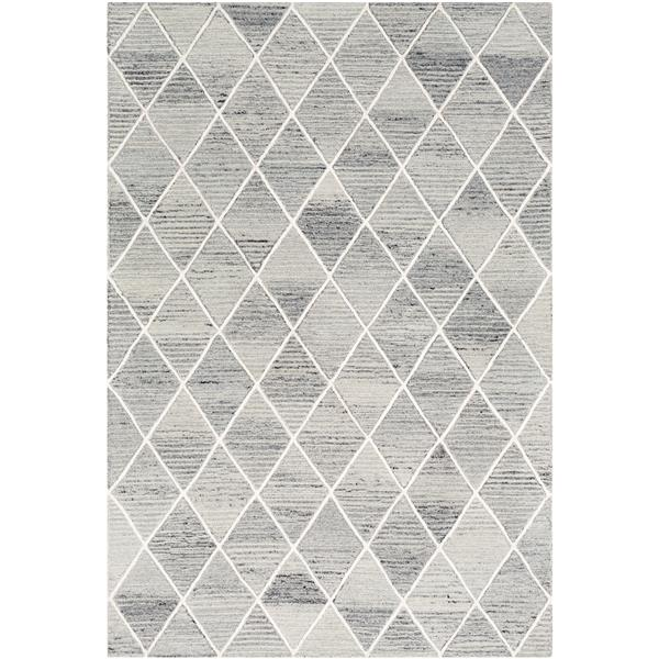 Surya Eaton Modern Area Rug - 8-ft x 10-ft - Rectangular - Gray