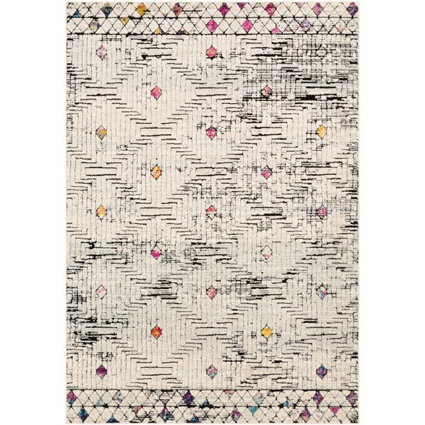 Surya Dersim Bohemian Area Rug - 5-ft 3-in x 7-ft 3-in - Rectangular - White