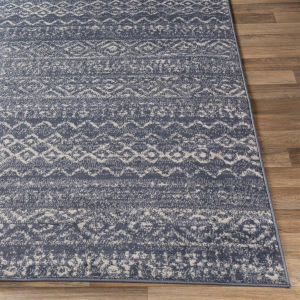Surya City light Transitional Area Rug - 6-ft 7-in x 9-ft - Rectangular - Blue