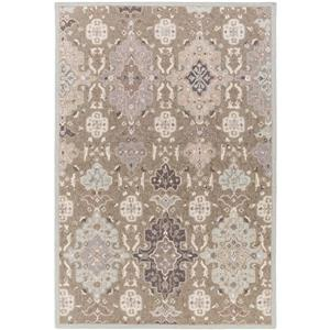 Surya Castille Traditional Area Rug - 4-ft x 6-ft - Rectangular - Taupe