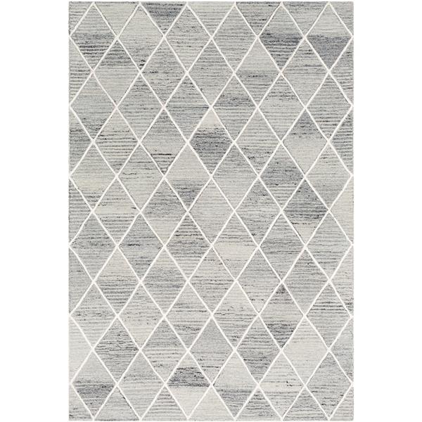 Surya Eaton Modern Area Rug - 9-ft x 12-ft - Rectangular - Gray