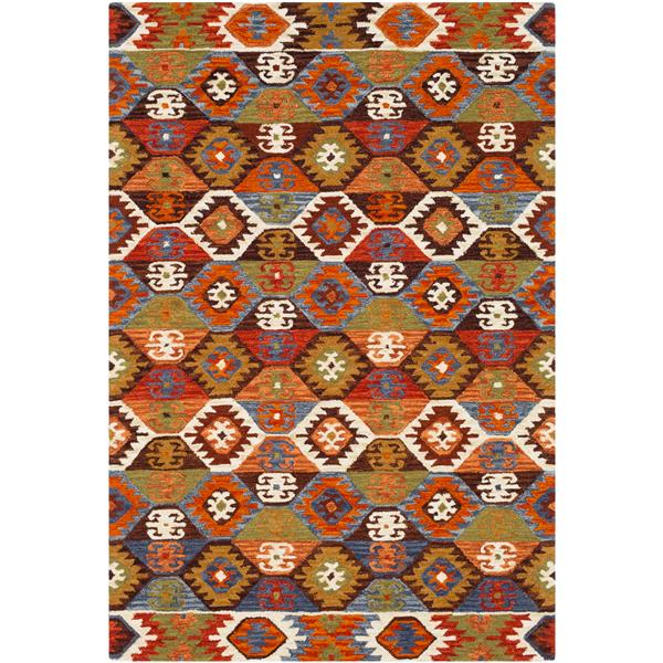 Surya Dena Transitional Area Rug - 5-ft x 7-ft 6-in - Rectangular - Orange