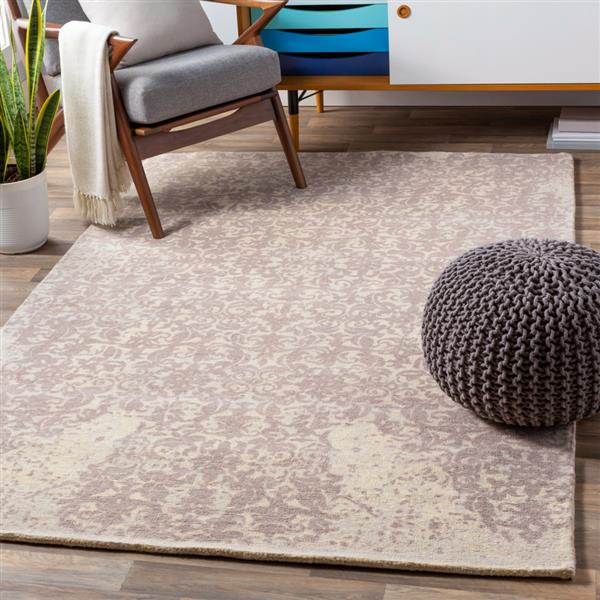Surya Edith Transitional Area Rug - 8-ft x 10-ft - Rectangular - Cream