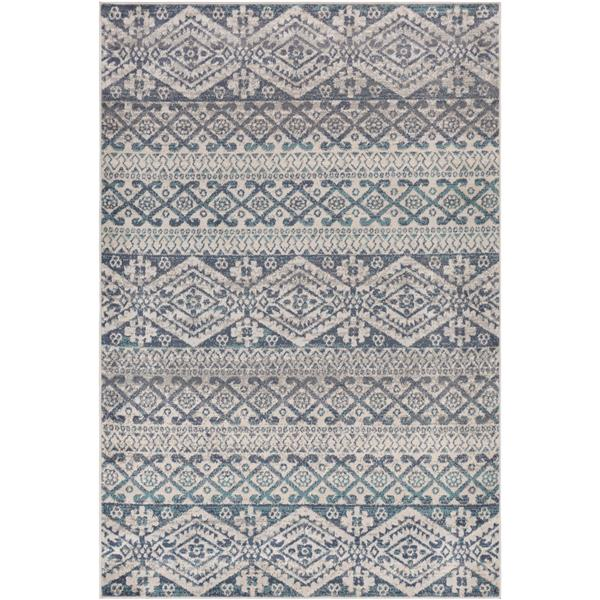 Surya City light Transitional Area Rug - 7-ft 10-in x 10-ft - Rectangular - Blue