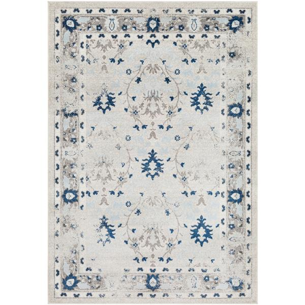 Surya Chelsea Updated Traditional Area Rug - 5-ft 3-in x 7-ft 3-in - Rectangular - Medium Gray
