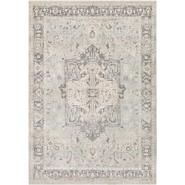 Surya Chelsea Updated Traditional Area Rug - 7-ft 10-in x 10-ft 3-in - Rectangular - Gray