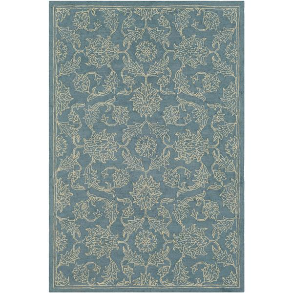 Surya Castille Traditional Area Rug - 5-ft x 7-ft 6-in - Rectangular - Blue
