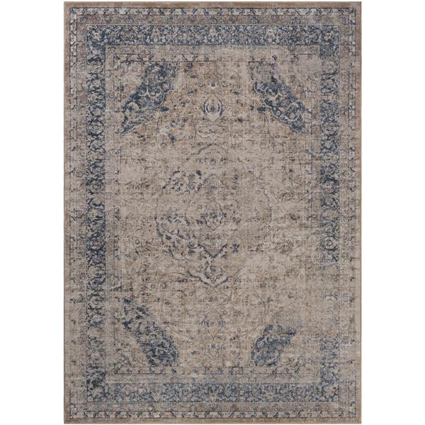 Surya Durham Updated Traditional Area Rug - 7-ft 10-in x 10-ft 3-in - Rectangular - Camel
