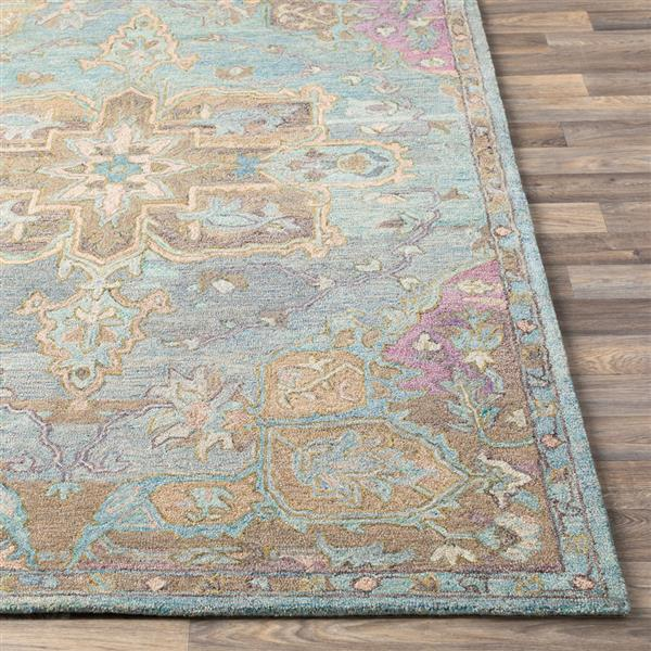 Surya Classic Nouveau Updated Traditional Area Rug - 8-ft x 10-ft - Rectangular - Purple