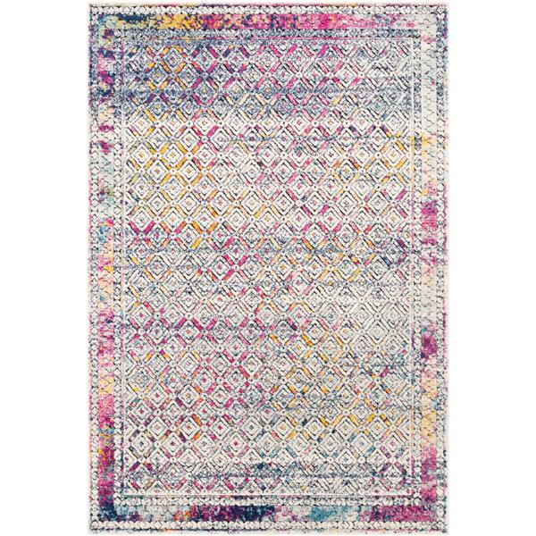 Surya Dersim Bohemian Area Rug - 7-ft 10-in x 10-ft 3-in - Rectangular - Pink