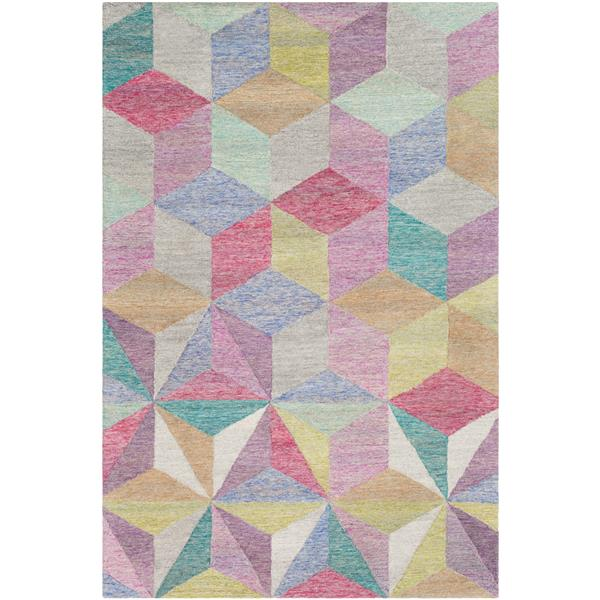 Surya Cassini Modern Area Rug - 5-ft x 7-ft 6-in - Rectangular - Pink