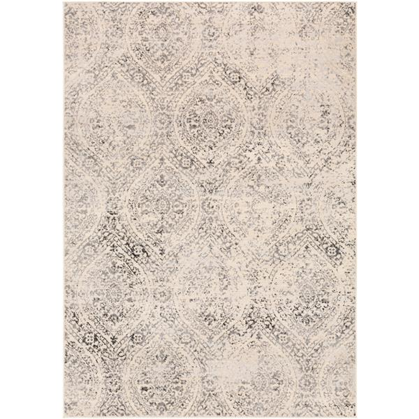 Surya City light Transitional Area Rug - 7-ft 10-in x 10-ft - Rectangular - Charcoal